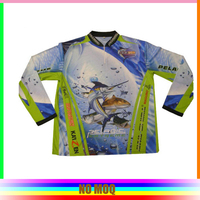 100%polyester with full printing cheap fishing shirt