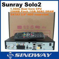 Sunray Solo 2 HD Satellite Receiver Linux OS Twin DVB-S2 Tuner with 1300 MHz CPU sunray solo2
