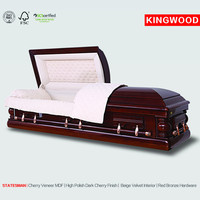 STATESMAN cheap solid cherry casket china goods wholesale small wooden boxes