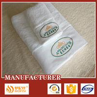 100%Cotton white embroidered bath towel brands