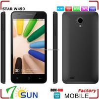 4.5 inch Star W450 3G Smartphone Android 4.2 Quad Core 8.0MP Dual SIM 1G RAM 4G ROM WCDMA GSM GPS WiFi wholesale smartphone