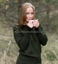 green wool knitwear women sweater jumper top warm fashion clothing women sweater tops