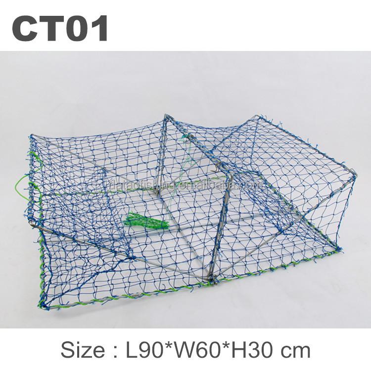 Opera House Shape Folding Fishing Wire Mesh Crab Pots Traps - Buy ...