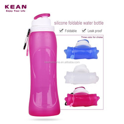 Collapsible plastic / glass drink sport water customize water bottles