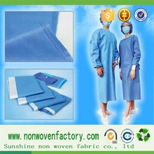 The lastest products a medical apparel of raw material polypropylene spunbond non woven fabric for hospital