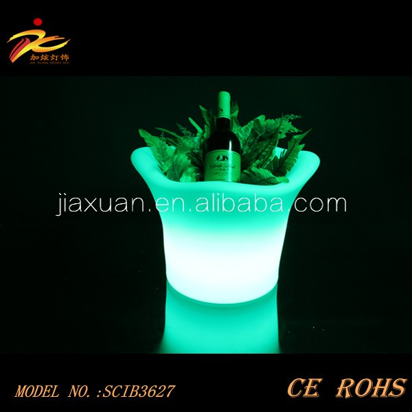 Ce Amp Rohs Pe Plastic Color Changing Led Ice Bucket With