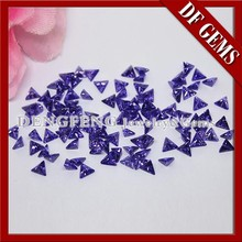 Best selling triangle Cut Synthetic Violet CZ Cubic Zirconia gemstone
