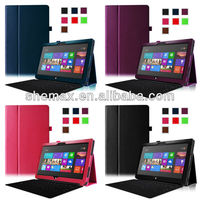 Laptop Book Folio Standing Leather Case For Microsoft Surface RT 10.6 Tablet