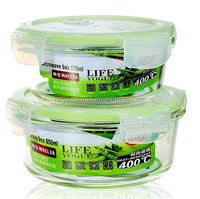 Best selling Freshness Preservation Food Container Feature Round Glass Lunch Box