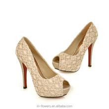 Advanced customization high quality sexy bridal wedding shoes