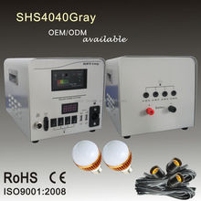Hot sale portable home lighting solar power pack 30W 40W 50W with solar radio and solar fan