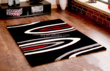 foldable antislip exhibition plain hairy soft red rugs