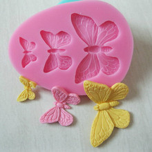 Bakeware kitchen dining bar 3D Butterfly Fondant Cake Decorator Chocolate Decoration Silicone Mold Baking Dessert Pastry Tools