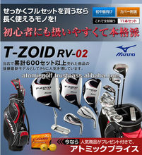 [golf equipments]Golf T-ZOID RV-02 Golf clubs set 11p (1W,4W,UT,5I-PW,SW,PT)with caddie bag