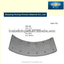 car chassis parts brake pads lining MB/186 for Mercedes Benz