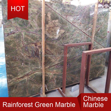Polished rainforest green marble