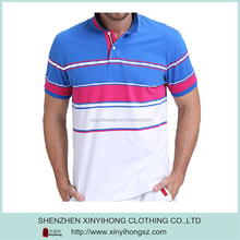 fashion style polyester Quick Dry Dri Fit antimicrobial men striped golf shirt