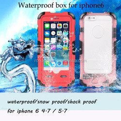 For iphone 6 6plus waterproof case factory price waterproof mobile phone case for iphone6 6plus