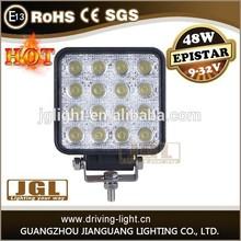 JGL 24v marine 12v led light motorcycle led driving lights 48w led work light