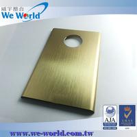Anti sctracth anodized aluminum 3d phone case for 6 plus case