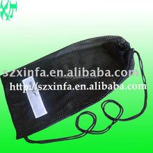 Factory direct sale cheap drawstring bag with printed logo,fashion mesh bag,beach bag