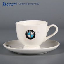 200ml Small Capacity Logo Customization Plain White Coffee Cups And Saucers, Fine Bone China Cups And Saucers Set