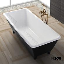 De tamaño personalizado bañera pequeña   sólido de alta calidad de la superficie de la bañera de acrílico   bañera