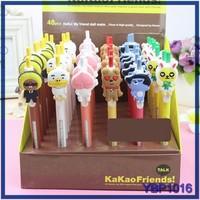 2015 Fashion cheap ball pen lovely animal ballpoint pen refill stationery set for kids