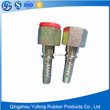Hydraulic carbon steel orfs female flat seat tube fitting and pipe fitting