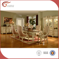 Solid wood dining room furniture, classic luxury dining room set