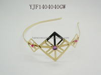Gold color alice band - hair accessories headband hair band for women