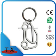 simple customs metal car shape key chain