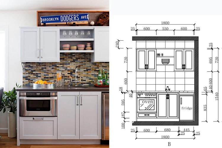 proyecto de diseo calificado mini cocina armarios para extractor de espacio