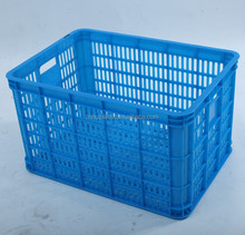 Mesh surface plastic crate rectangular food material basket for fruits