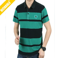 Llatest High quality design100% cotton men's combined fabric polo