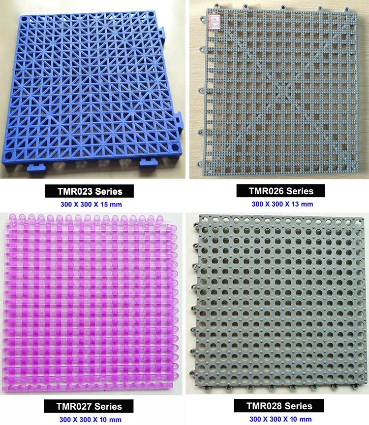 욕실 바닥 플라스틱 연동 타일, 안티 슬립 배수 바닥 매트, 30x30 cm ...