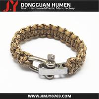 supplying adjustable stainless steel shackle for handmade paracord bracelet
