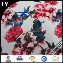 Custom new design high quality digital printed 100 pure silk organza fabric