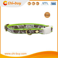 Greent Print Pet Use Nylon Dog Collar with Neck Size 20~30cm