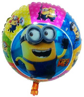 18inch Despicable me minions foil Ballons, birthday helium balloon