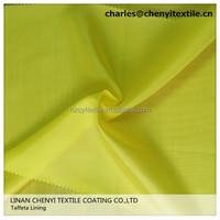 polyester plain taffeta lining fabric
