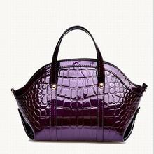 Bz2307 hefei mosen 2015 latest fashion handbags crocodile print lady hand tote bags