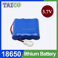 Wholesale price 18650 li-ion battery pack 3.7v 8000mah