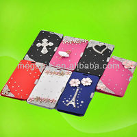 Phone case phone accessories Rhinestone crystal flip cover for samsung galaxy note 3 case