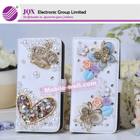 Wholesales diamond pearl flip cover for samsung galaxy grand i9082 case, leather case for galaxy s5 case