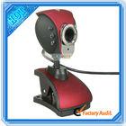 Alta definição livre driver webcam usb pc câmera vermelha( c00497)