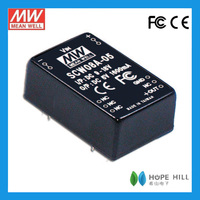 Meanwell SCW08A-15 8W Regulated Single Output DC-DC Converter rgb led driver