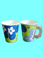7oz single wall Paper Cup with handle