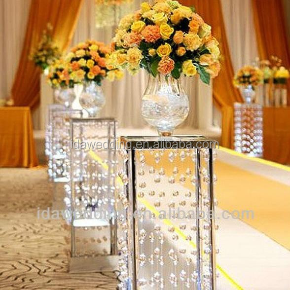 Acrylic Wedding Lighted Columns Wholesale Crystal Beaded Columns Wedding Decorations Events And