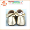 2014 new fashion wholesale genuine leather baby bow moccasins